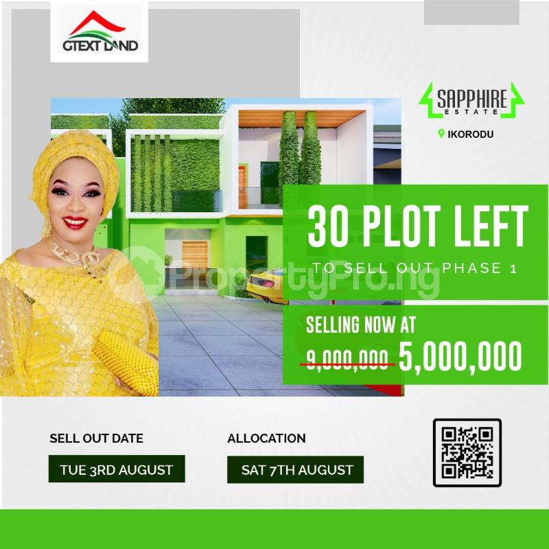 Land for sale Sapphire Estate Ikorodu Lagos - 1