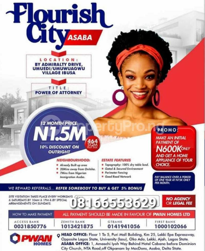 Serviced Residential Land for sale Asaba Delta - 1