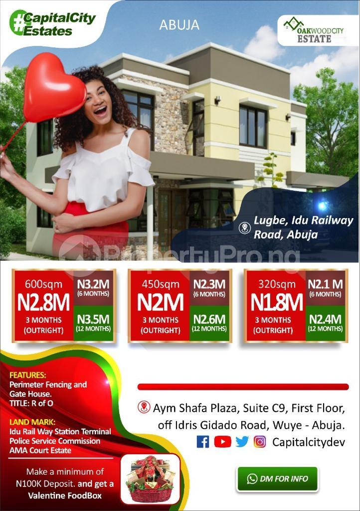 Residential Land for sale   Lugbe Abuja - 0