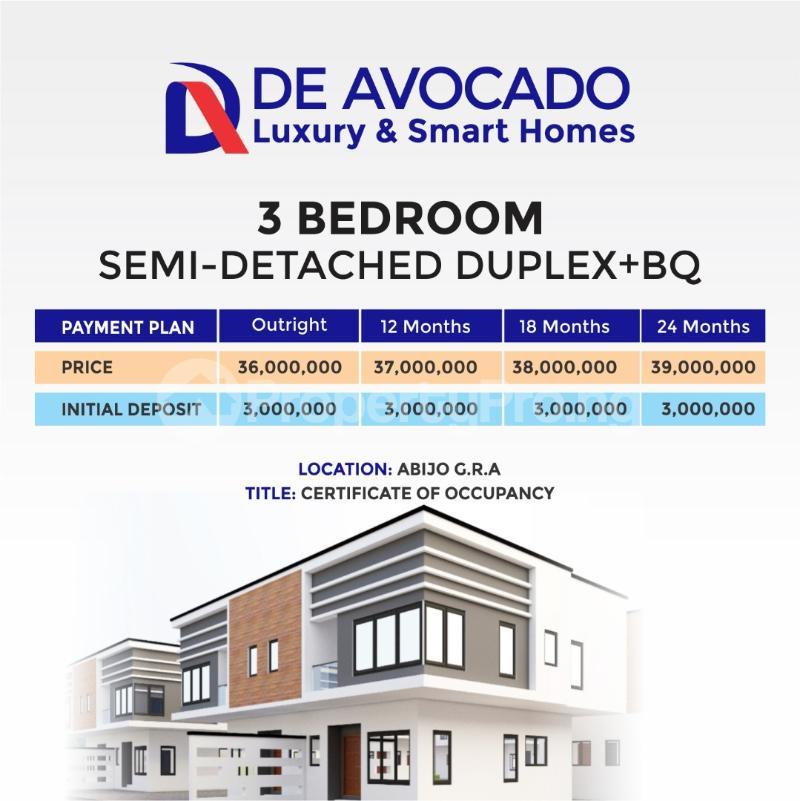 3 bedroom Semi Detached Duplex House for sale Abijo Gra  Lekki Lagos - 1