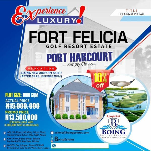 Mixed   Use Land Land for sale Along new airport road (after SARS before OPM), Port Harcourt Neighborhood ,Omega Power Ministries, SARS, Port Harcourt Port Harcourt Rivers - 0