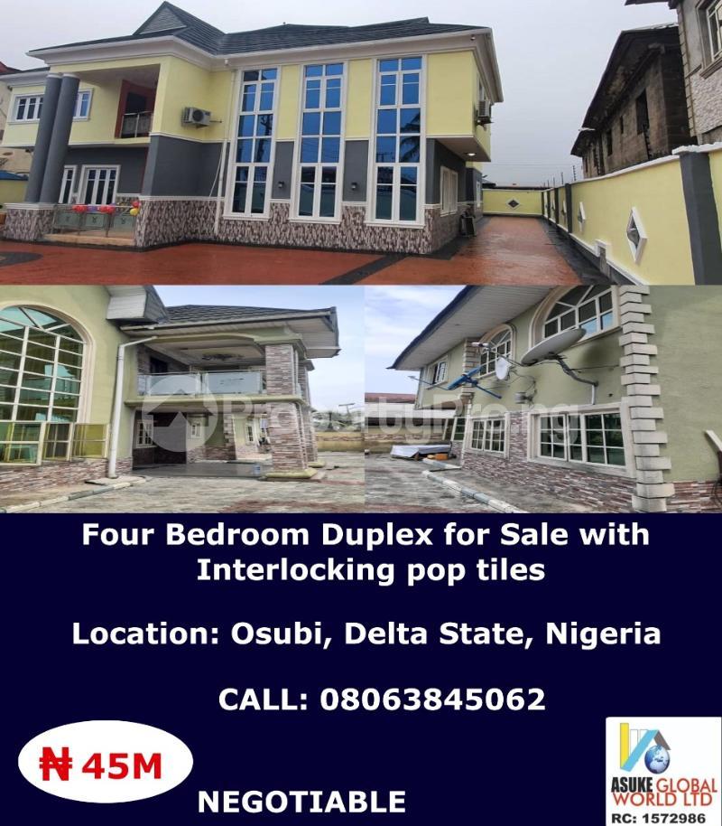 4 bedroom Detached Duplex House for sale Osubi Delta state Nigeria Warri Delta - 0