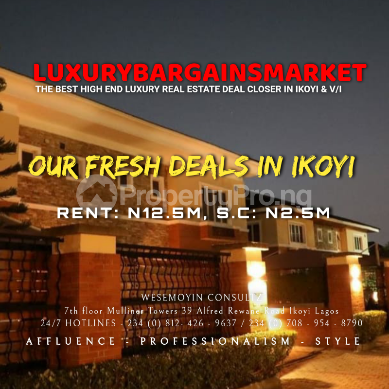 4 bedroom Semi Detached Duplex House for rent Osborne Foreshore Estate Ikoyi Lagos - 1