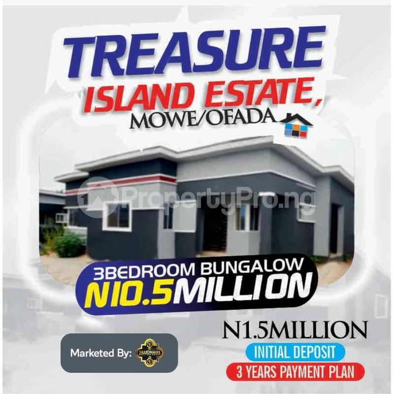 3 bedroom Semi Detached Bungalow for sale Treasure Island Estate, Mowe Ofada, Close To Nestle Foods Ofada Obafemi Owode Ogun - 0