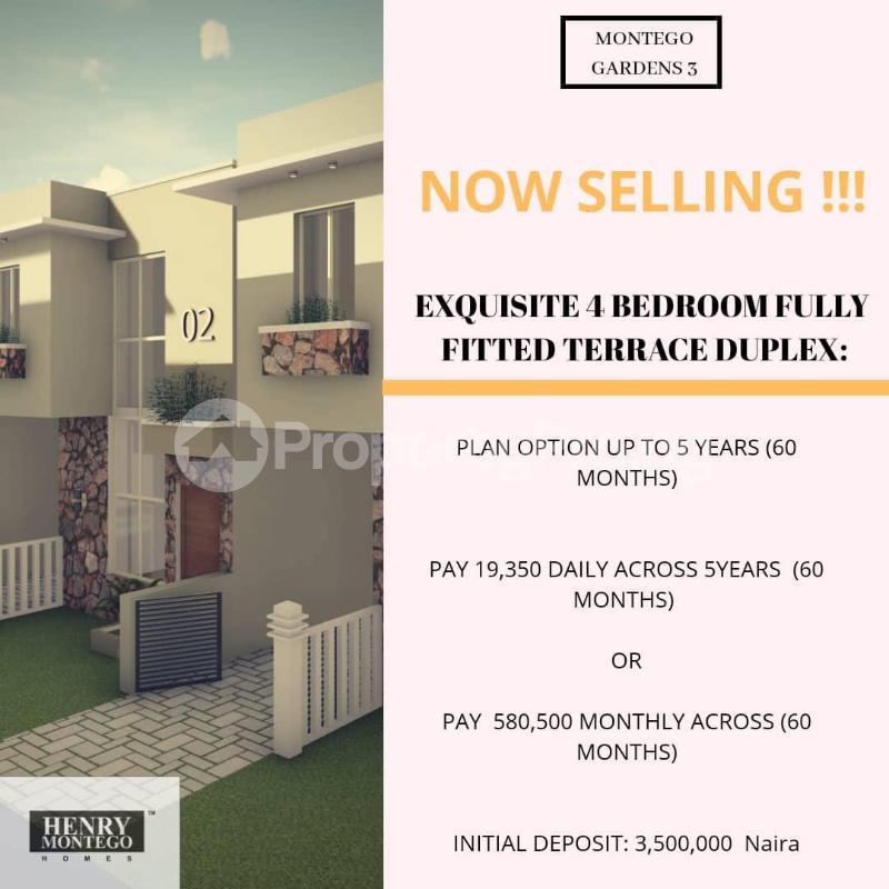 4 bedroom Terraced Duplex for sale Palm City Estate, Off Ado Road, Ajah, Lekki, Lagos Ado Ajah Lagos - 0