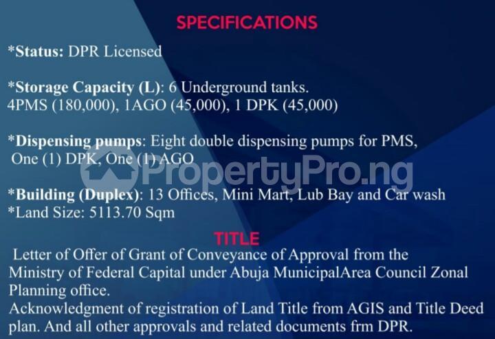 Tank Farm for sale Airport Road Lugbe Lugbe Abuja - 5