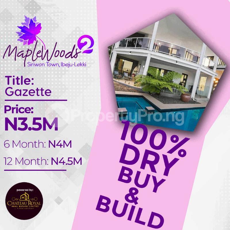 Mixed   Use Land Land for sale Orimedu Ibeju-Lekki Lagos - 0