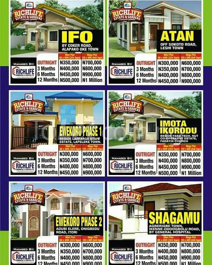 Residential Land for sale Directly Beside Lafarge Staff Estate Quarters Lapeleke Town Abese Ewekoro Ogun - 2