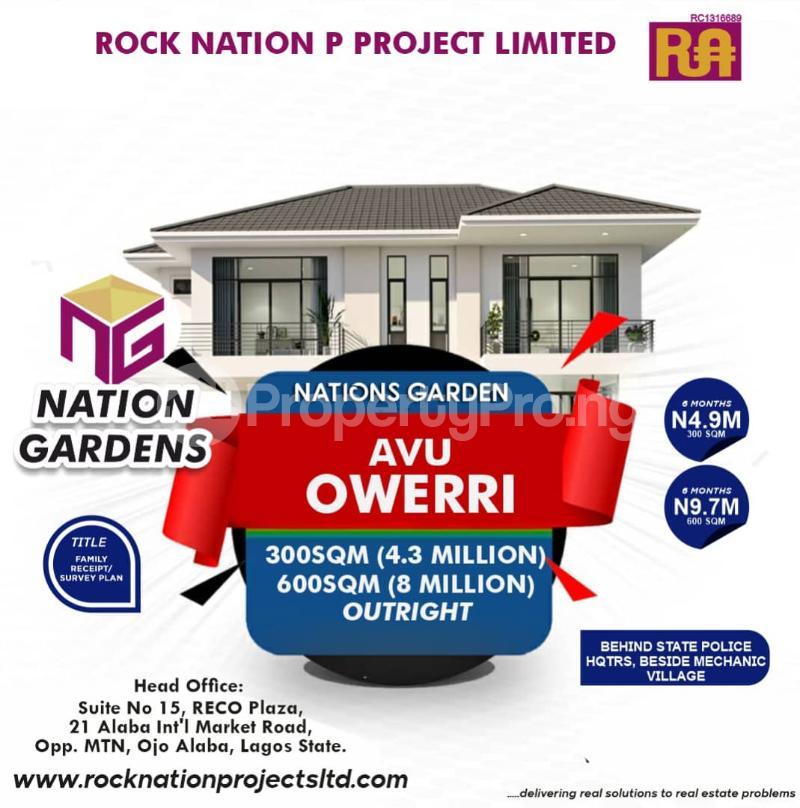Residential Land Land for sale Nation Garden Owerri Imo - 0