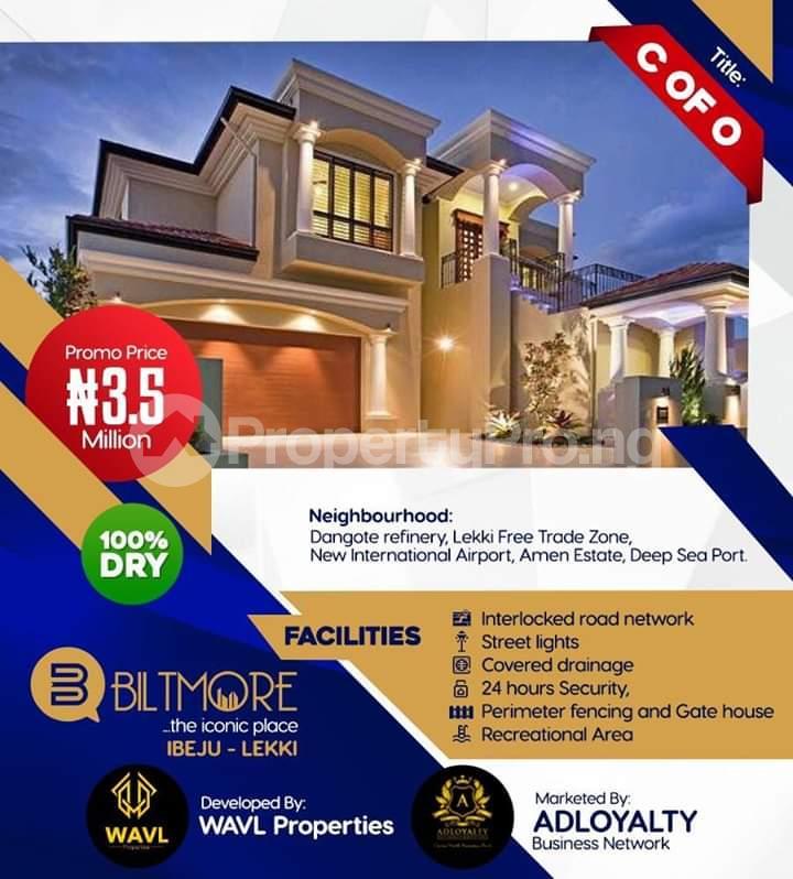Land for sale *Bolorunpelu - Opposite The New Lekki International Airport, Ibeju - Lekki* Free Trade Zone Ibeju-Lekki Lagos - 0