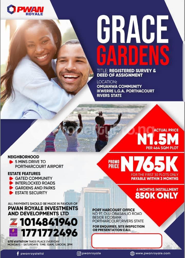 Mixed   Use Land for sale Omuanwa Community Port-harcourt/Aba Expressway Port Harcourt Rivers - 0
