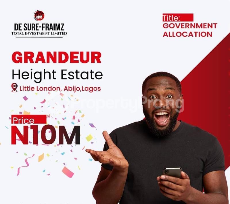 Residential Land Land for sale Abijo Town, 1 Minute Drive From Lekki Epe Expressway. Abijo Ajah Lagos - 1