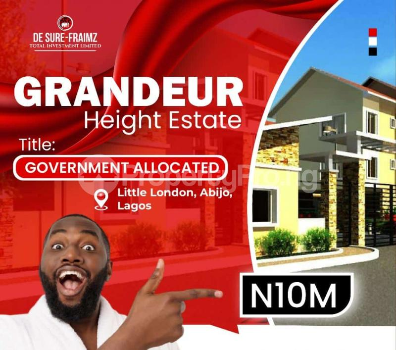 Residential Land Land for sale Abijo Town, 1 Minute Drive From Lekki Epe Expressway. Abijo Ajah Lagos - 0