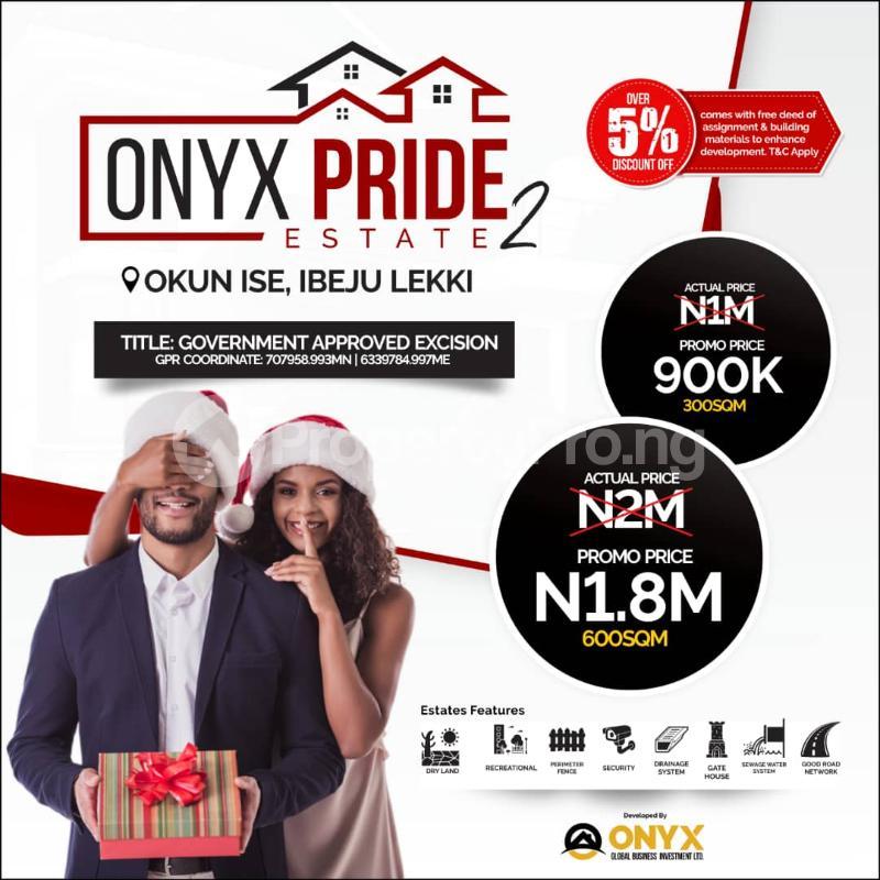 Residential Land Land for sale Okun Ise/Folu, After Eleko Town LaCampaigne Tropicana Ibeju-Lekki Lagos - 1