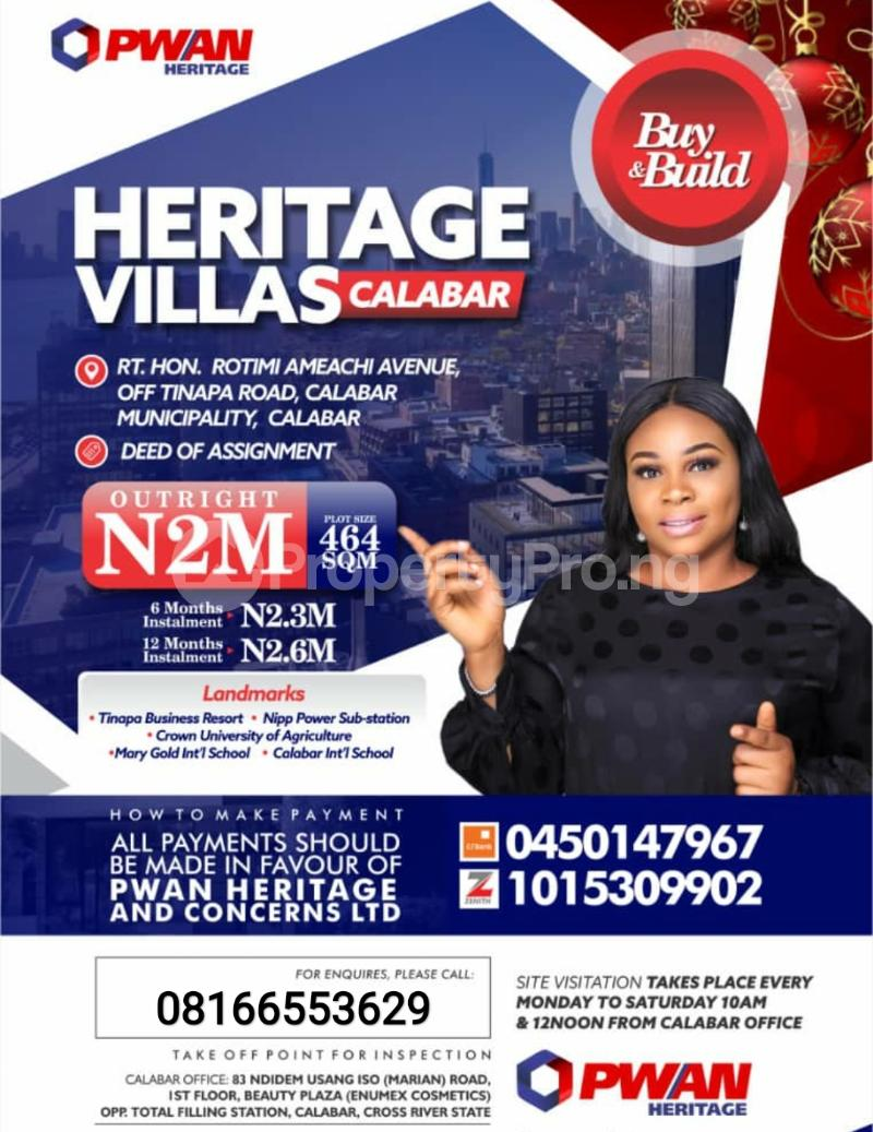 Serviced Residential Land Land for sale Calabar Cross River - 0