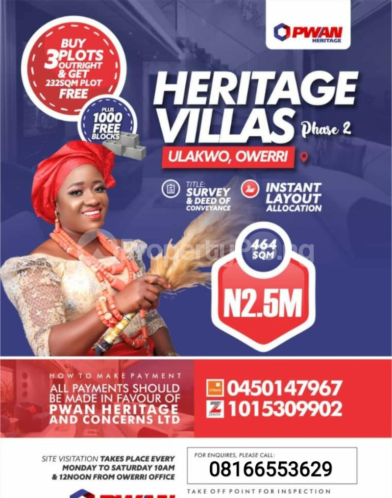 Serviced Residential Land Land for sale Ulakwo Owerri Imo - 0