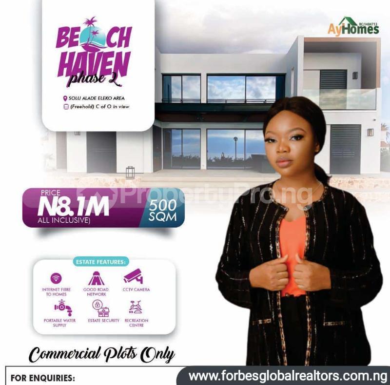 Commercial Property for sale Solu Alade, Eleko Eleko Ibeju-Lekki Lagos - 1