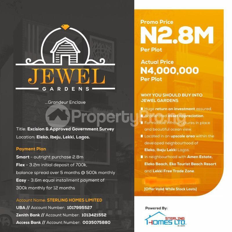 Residential Land Land for sale Jewel Gardens, Sharing Boundary With Amen Estate Phase2 Eleko Ibeju-Lekki Lagos - 3