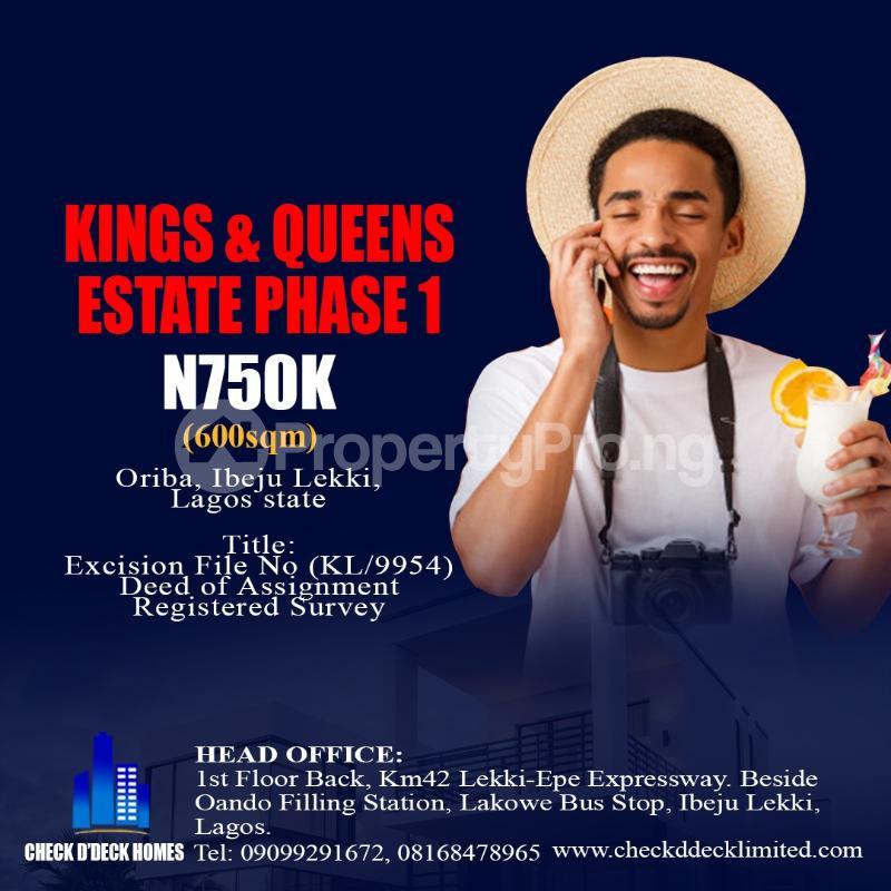 Residential Land Land for sale Oriba  Eleranigbe Ibeju-Lekki Lagos - 6