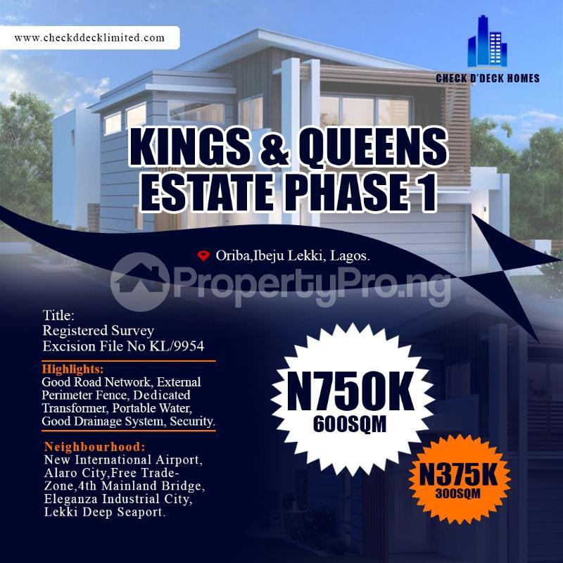 Residential Land Land for sale Oriba  Eleranigbe Ibeju-Lekki Lagos - 5