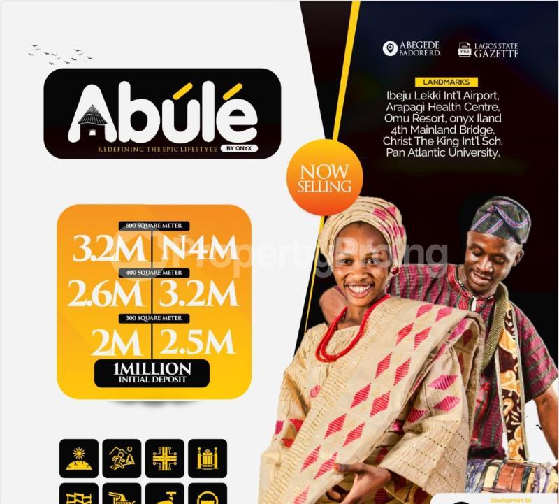 Residential Land for sale Abule (lagoon Front Estate), Abegede Badore Road. Ibeju-Lekki Lagos - 5