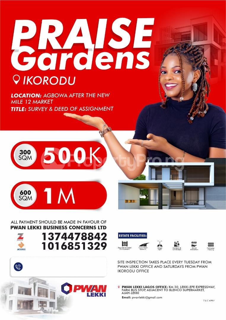 Land for sale Agbowa, after the new Mile 12 Market,  Ikorodu Lagos - 0