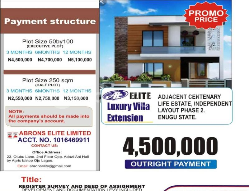 Residential Land Land for sale 2 Minutes Drive To Centinary Life Estate Independence Layout Phase 2 Enugu Enugu - 0