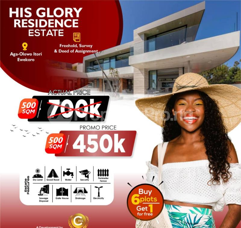 Residential Land for sale His Glory Residence Estate, Aga Olowo. Ewekoro Ogun - 1