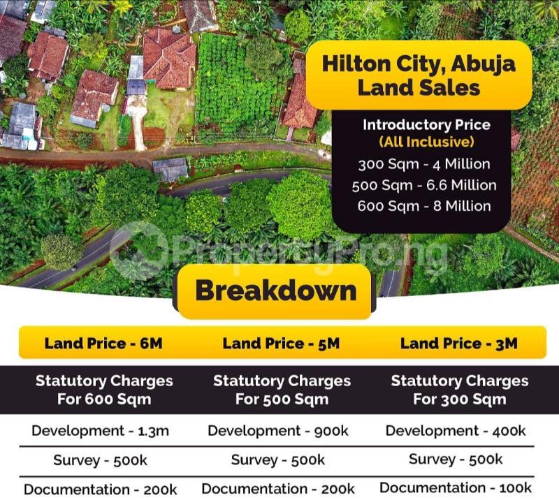 Residential Land for sale Hilton City. Kurudu Abuja - 0