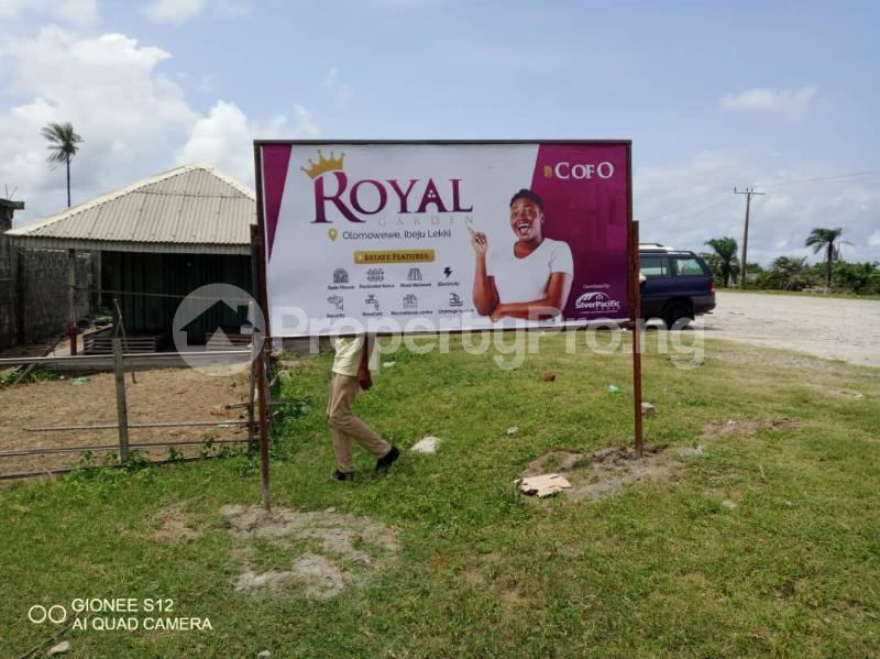 Residential Land Land for sale Royal Garden Estate. Directly Facing The Coastal Line. Free Trade Zone Ibeju-Lekki Lagos - 1