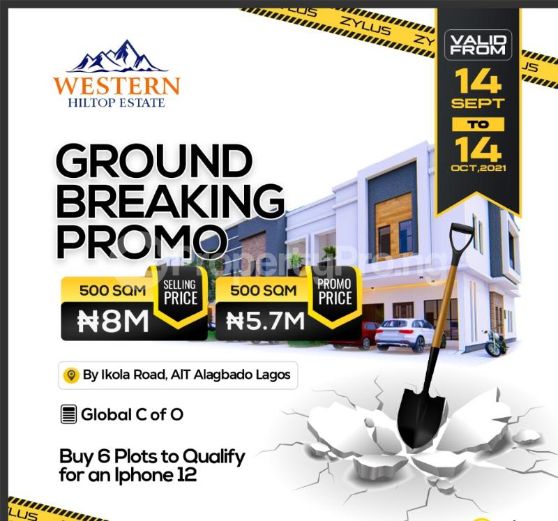 Residential Land for sale Western Hilltop Estate Ikola Alagbado Alimosho Lagos - 4