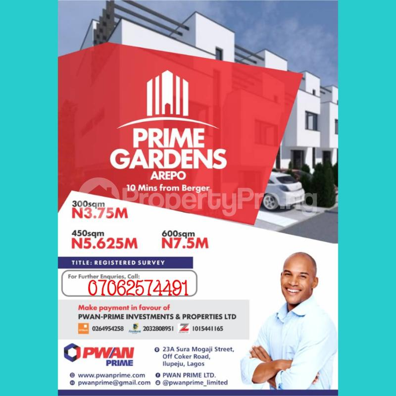 Residential Land Land for sale Arepo Arepo Ogun - 0