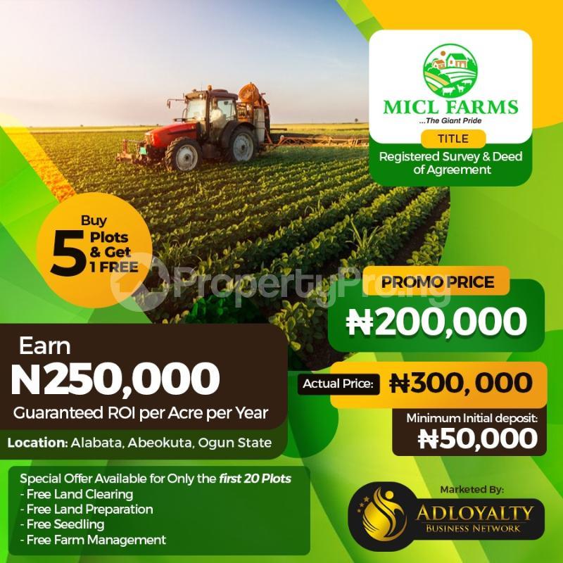 Land for sale MICL Farm, Alabata  Abeokuta Ogun - 0