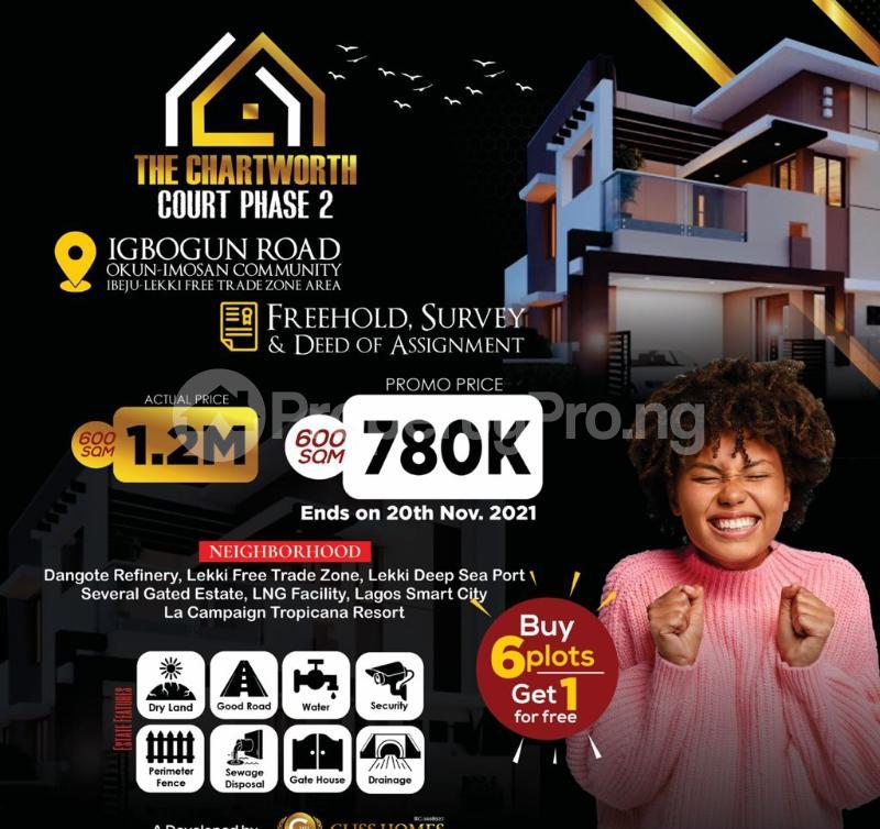 Residential Land for sale Chartworth Court Phase2, Okun Imosan. Ibeju-Lekki Lagos - 0
