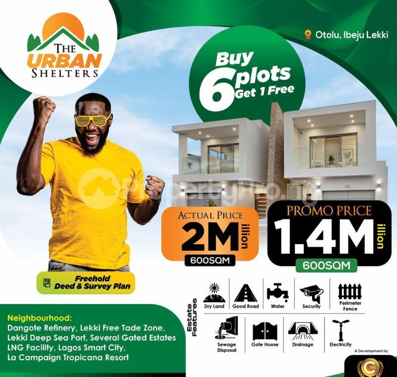 Residential Land for sale Urban Shelter, Otoolu Before La Campaign Tropicana Beach Resort. Ibeju-Lekki Lagos - 0