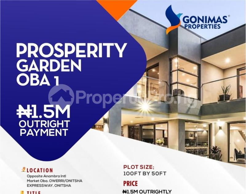 Joint   Venture Land for sale Behind Prestigious Grundvit Polythecnic Institute And Opp. Anambra State International Market By Owerri Road Idemili south Anambra - 0