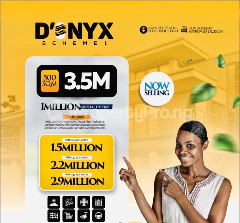 Residential Land for sale D'onyx Scheme 1, Igando Orudu. Eleko Ibeju-Lekki Lagos - 6