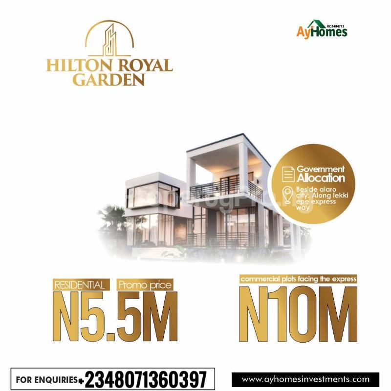 Commercial Land for sale Beside Alaro City, Epe Road. Epe Road Epe Lagos - 0