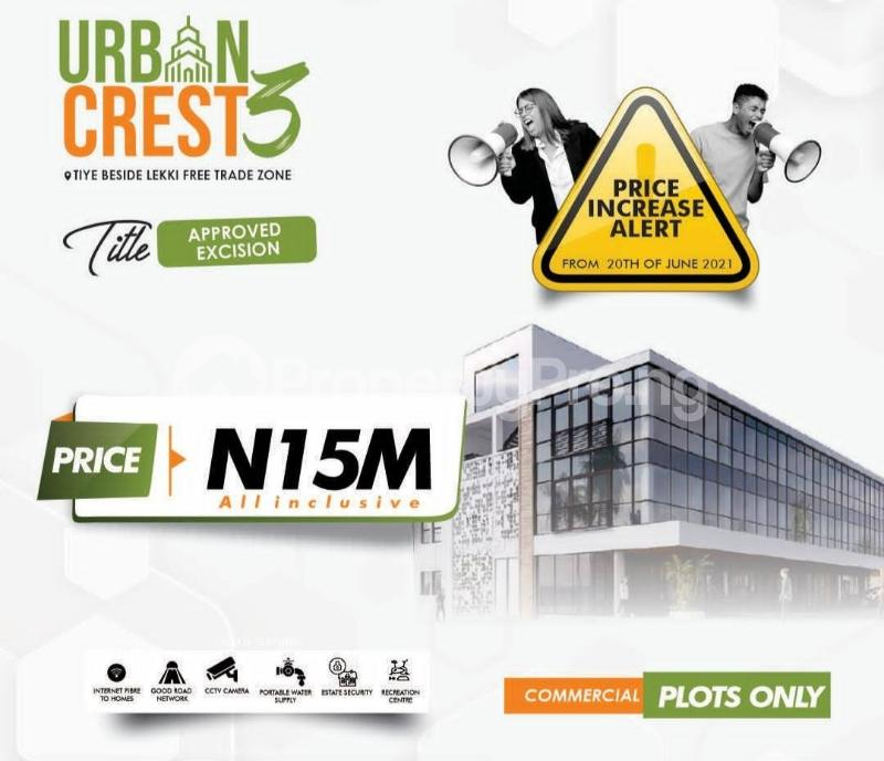 Commercial Land Land for sale Urban Crest 3 Beside Lekki Free Trade Zone Free Trade Zone Ibeju-Lekki Lagos - 0