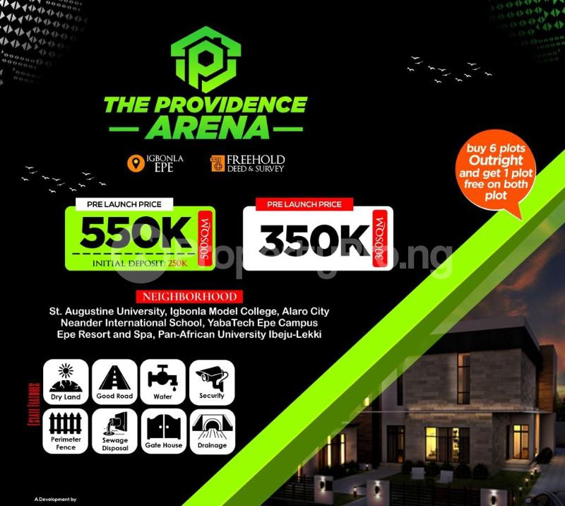 Land for sale Providence Arena, Igbonla Epe Lagos - 0