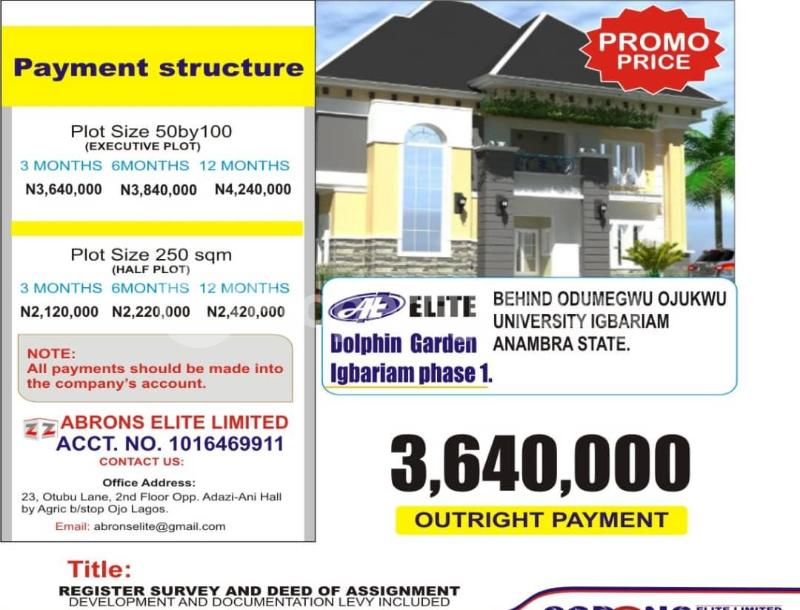 Land for sale Igbariam Phase 1 Anambra Anambra - 0