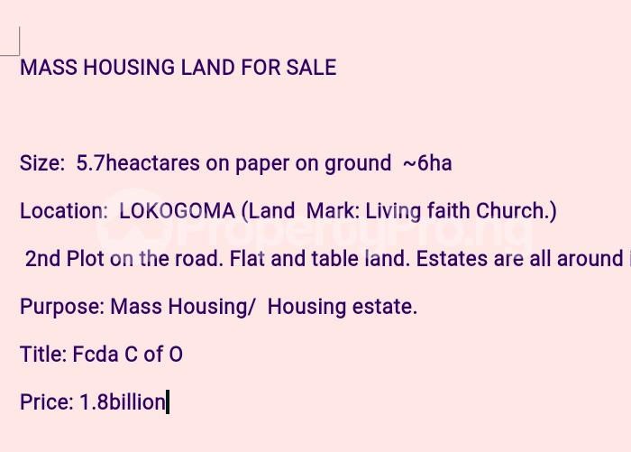 Residential Land for sale Lokogoma Abuja - 0