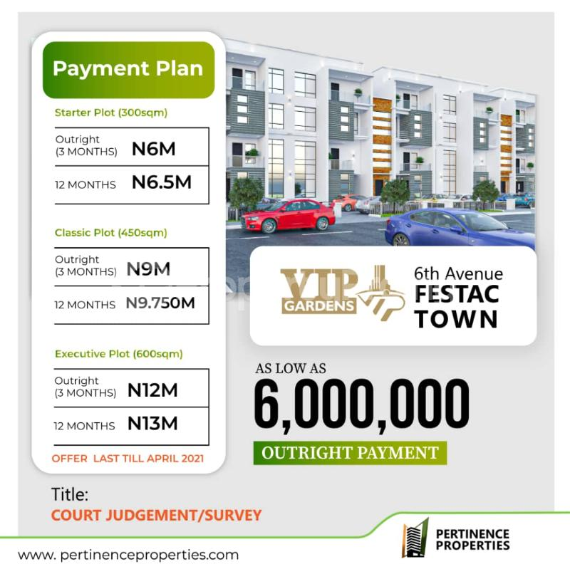 Serviced Residential Land Land for sale VIP Gardens 6th Avenue Festac Town Buy and Build with Court Judgement  Festac Amuwo Odofin Lagos - 0
