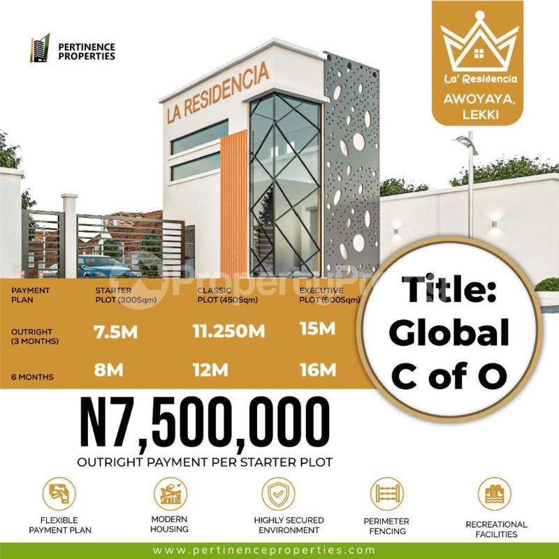 Residential Land for sale Oribanwa /la' Residencia / Lakowe Golf Road , Awoyaya Awoyaya Ajah Lagos - 1
