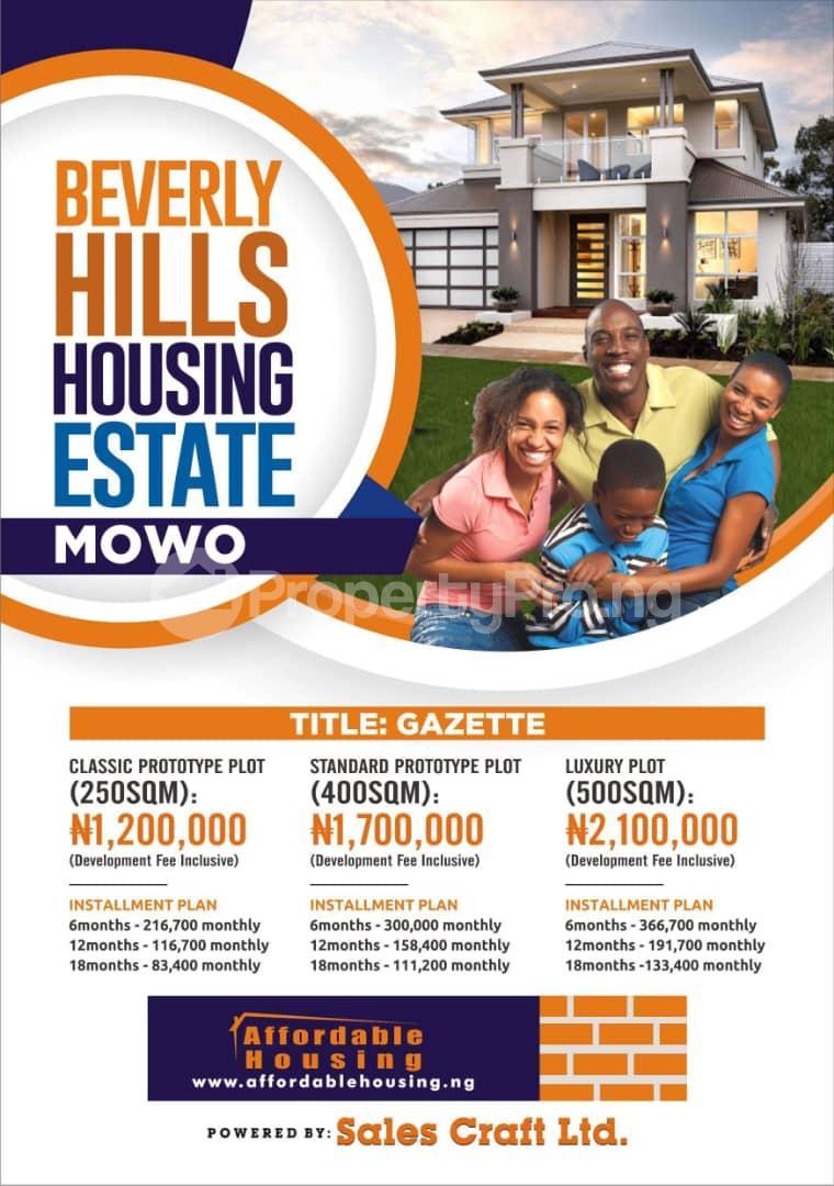 Mixed   Use Land Land for sale Iyana iluogbo, mowo, Badagry,  very close to fashola farm. Age Mowo Badagry Lagos - 9
