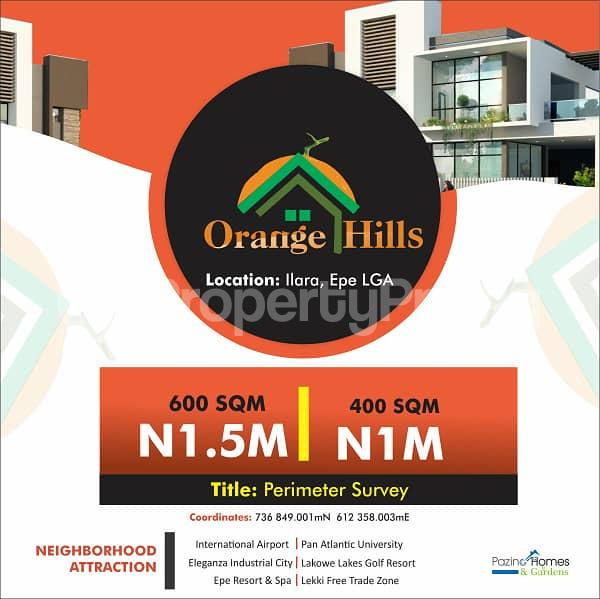 Residential Land Land for sale Orange Hills Ilara Epe Lagos Epe Road Epe Lagos - 1