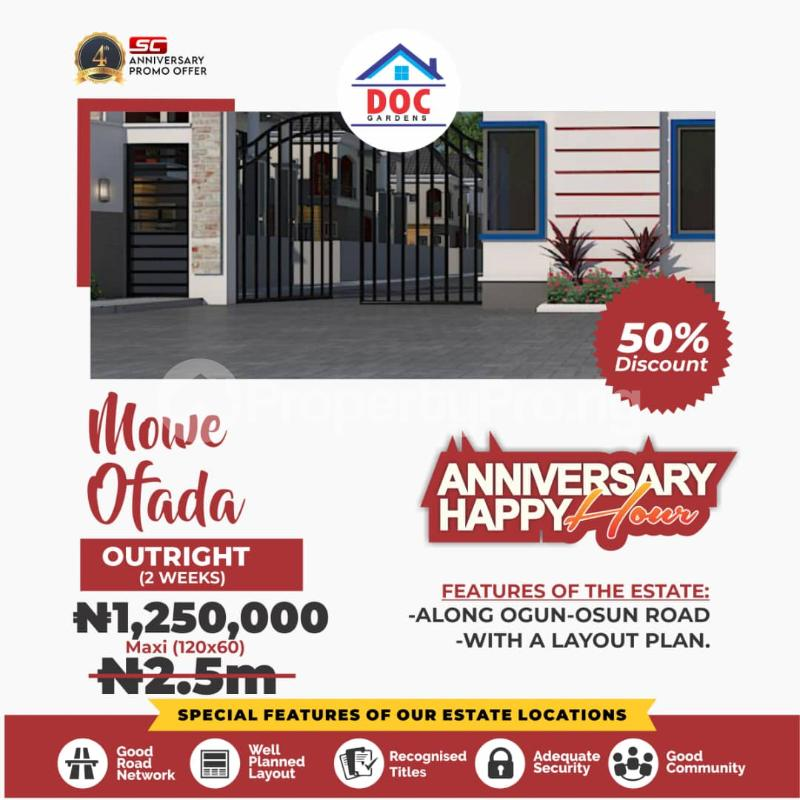 Residential Land Land for sale Doc Garden Estate Mowe Obafemi Owode Ogun - 0