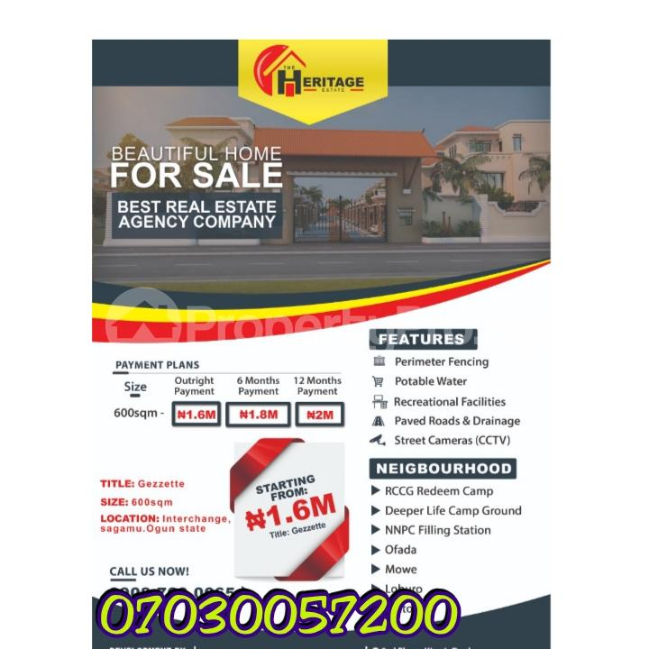 Land for sale 1, Sagamu, Interchange, Nestle, Ogun State Sagamu Sagamu Ogun - 0