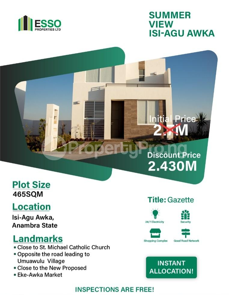 Residential Land for sale St Micheal Catholic Church Awka South Anambra - 0