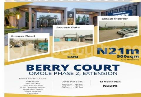 Commercial Land Land for sale Berry Court, Omole Phase 2 Extension Omole phase 2 Ojodu Lagos - 0
